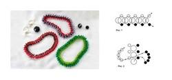 Очень интересные и красочные браслеты из бисера.  Техника плетения необычная и в то же время.